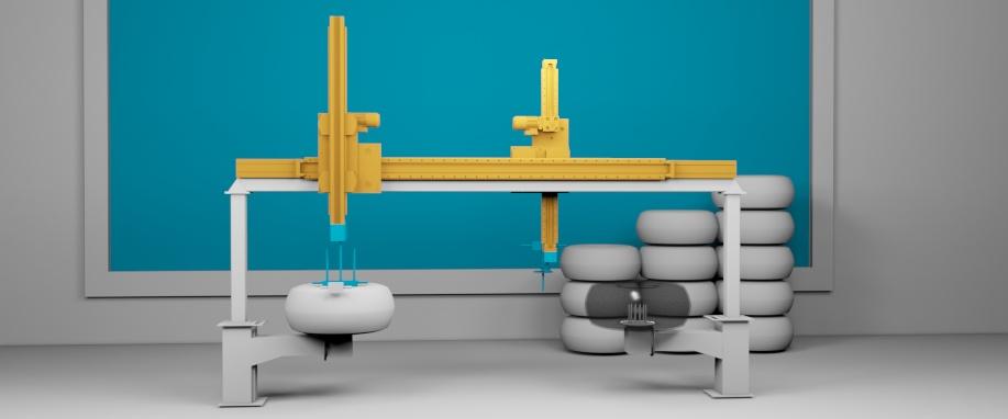 Сборка колес летательных аппаратов