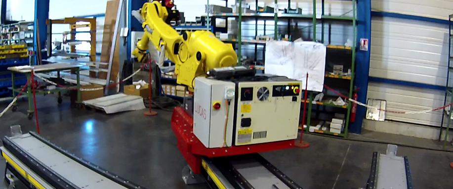 Система перемещения роботов